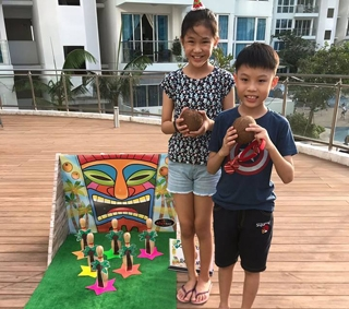 Coconut Bowling Carnival Game